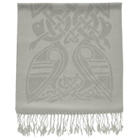 Patrick Francis Stone and Silver Wool Scarf