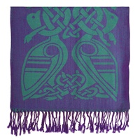 Image for Patrick Francis Purple and Green Wool Scarf