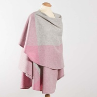 Image for John Hanly Irish Sue Cape, Natural with Pinks
