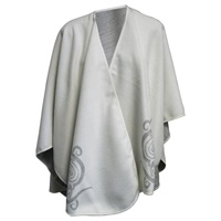 Image for Jimmy Hourihan Celtic Motif Shawl, Off White/Grey