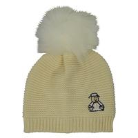 Image for Cream Sheep Fur Bobble Kids Hat