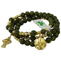 Image for Connemara Marble Rosary Bracelet- St Patricks Medal
