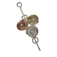 Image for Handcrafted Tri Color Newgrange Shawl and Hair Pin