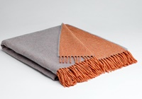 Image for Supersoft  Reversible Throw, Orange/Smoke