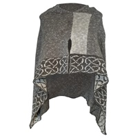 Image for Irish Linen and Silk Wallace Shawl, Mist