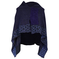 Image for Irish Linen and Silk Wallace Shawl, Grape