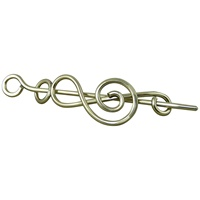 Image for Handcrafted Treble Clef Shawl and Hair Pin