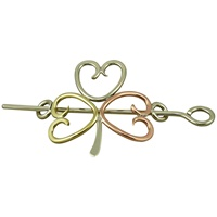 Image for Handcrafted Shamrock Tri-Color Shawl and Hair Pin