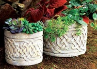 Image for Celtic Knot Planters-Pair