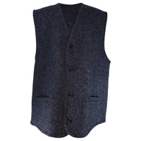 Image for Gents Waistcoat in Blue Donegal Tweed
