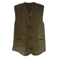 Image for Gents Waistcoat in Tan Herringbone Donegal Tweed
