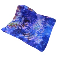 Image for Handpainted Silk Scarf, Spirals