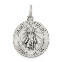 Image for Saint Peregrine Medal, Medium Round