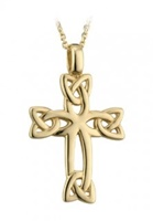 Image for Celtic Trinity Knot Cross, 9K Yellow Gold