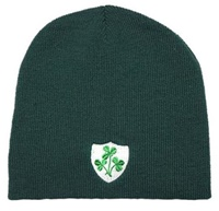 Image for Green Shamrock Shield Beanie Cap