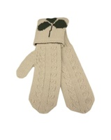 Image for Aran Styled Mitten with Wristband, Ecru
