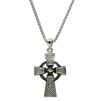 Image for Sterling Silver Celtic Cross Medium Pendant