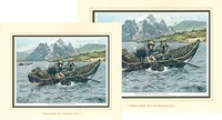 Image for Ireland Remembered-Lobster Fishing, Double Matted Print