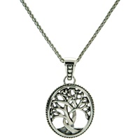 Image for Sterling Silver Tree of Life Pendant, Small