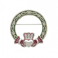 Image for Irish Dancing Claddagh Brooch