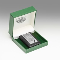 Image for Mullingar Pewter Magnetic Leather Money Clip, Swan