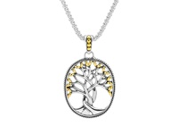 Image for Sterling Silver and 18K Yellow Gold Tree of Life Pendant