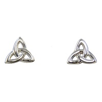 Image for 14K White Gold Tiny Trinity Stud Earrings