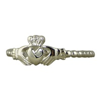 Image for Sterling Silver Beaded Claddagh Ring