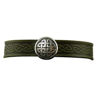 Image for Knot Single Magnetic Cuff, Green Leather