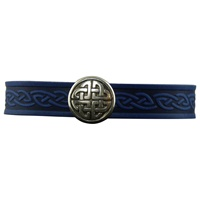 Image for Knot Single Magnetic Cuff, Blue Leather