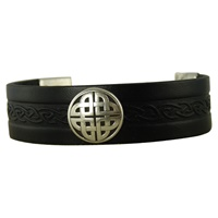 Image for Craig 20mm Wide Magnetic Cuff, Black Leather