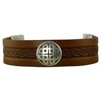 Image for Craig 20mm Wide Magnetic Cuff, Brown Leather
