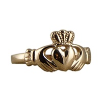 Image for Ladies 10K Rose Gold Claddagh Ring