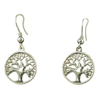 Image for Tree of Life Sterling Silver Dangle Earrings