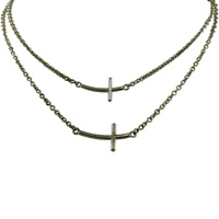 Image for Layered Cross Necklace