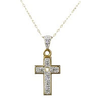 Image for Cross Pendant w/ Clear Crystals