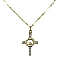 Image for Claddagh Cross Pendant, 10K Yellow Gold