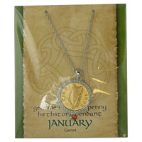 Image for Irish Luck Penny Birtshtone Pendant