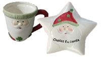 Image for Milk and Cookies for Santa, 2 Piece Set