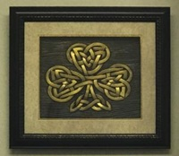 Image for Framed  Shadowbox Shamrock Art