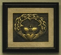 Image for Framed Shadow Box  Claddagh Art