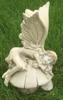 Image for Sleeping Irish Fairy Garden Statue