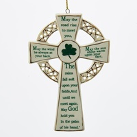Image for Kurt Adler Porcelain Irish Cross Ornament