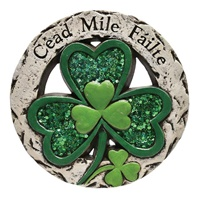 Image for Glistening Shamrock Cead Mile Failte Stepping Stone