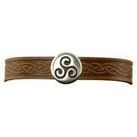 Image for Triskle Single Magnetic Cuff, Brown Leather