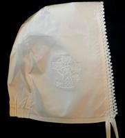 Image for Celtic Cross Christening Bonnet