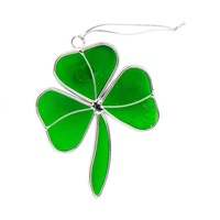 Image for Wee Glass Shamrock Suncatchers