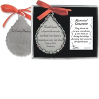 Image for Memorial Ornament- Death Leaves A Heartache