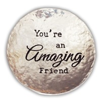 Image for Bright Metal Trinket Dish, Amazing Friend