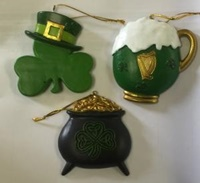 Image for Shamrock Holiday Gold Ornament